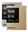 Polaroid® film Color SX-70 Gold/Silver Frame